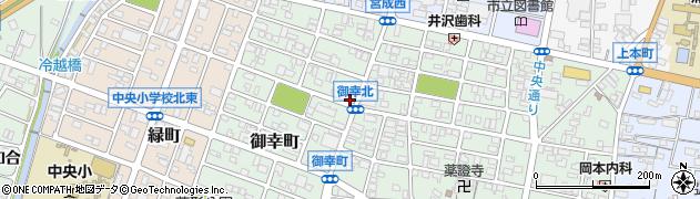愛知県蒲郡市御幸町周辺の地図
