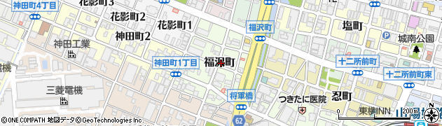 兵庫県姫路市福沢町周辺の地図