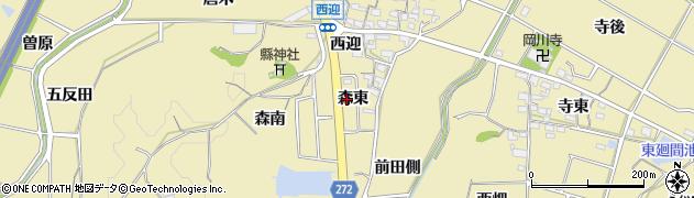 愛知県武豊町(知多郡)冨貴(森東)周辺の地図