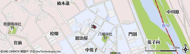 愛知県豊川市二葉町(池)周辺の地図