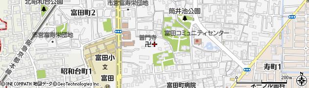 普門禅寺周辺の地図