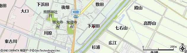 愛知県西尾市刈宿町(下川田)周辺の地図