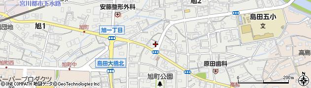 静岡県島田市旭周辺の地図