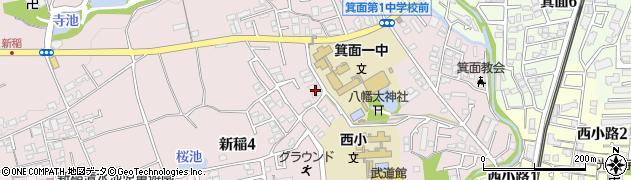 箕面フジノーズ周辺の地図