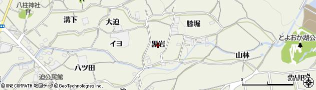 愛知県蒲郡市豊岡町(黒岩)周辺の地図