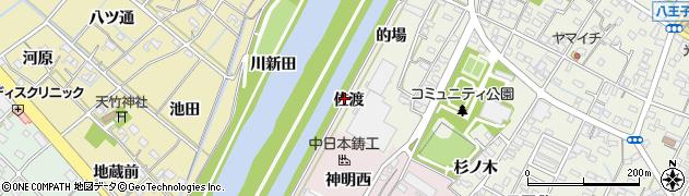 愛知県西尾市吉良町上横須賀(佐渡)周辺の地図