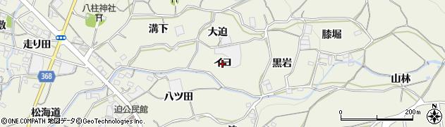 愛知県蒲郡市豊岡町(イヨ)周辺の地図