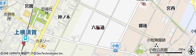 愛知県西尾市吉良町木田(六反通)周辺の地図