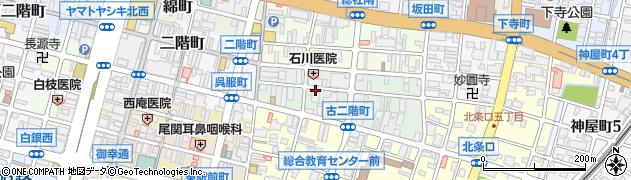 兵庫県姫路市古二階町周辺の地図