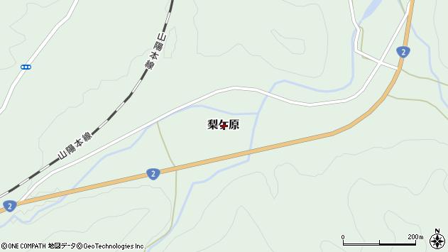 〒678-1244 兵庫県赤穂郡上郡町梨ケ原の地図