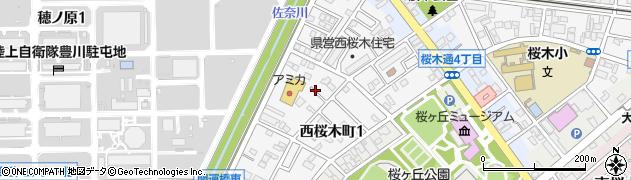愛知県豊川市西桜木町周辺の地図
