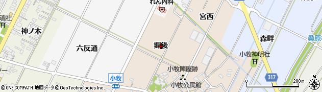 愛知県西尾市吉良町小牧(郷後)周辺の地図