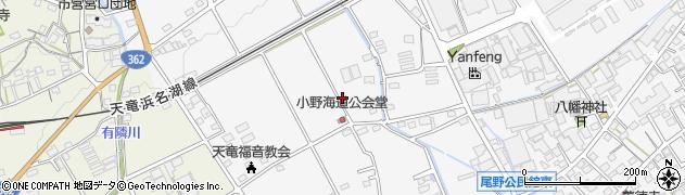 静岡県浜松市浜北区尾野周辺の地図