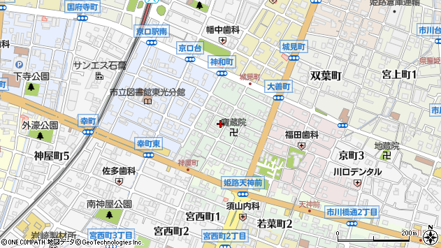 〒670-0834 兵庫県姫路市神和町の地図