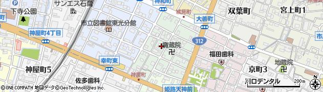 兵庫県姫路市神和町周辺の地図