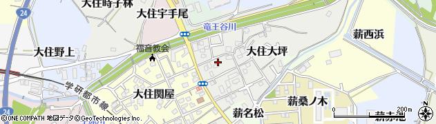 京都府京田辺市大住大坪周辺の地図
