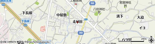 愛知県蒲郡市豊岡町(走り田)周辺の地図