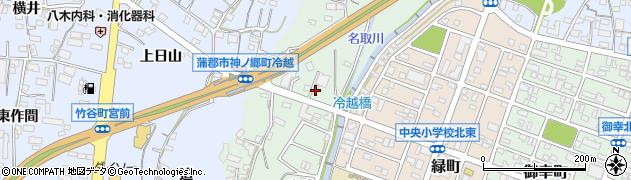 愛知県蒲郡市神ノ郷町(冷越)周辺の地図