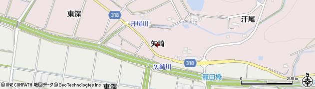 愛知県西尾市吉良町駮馬(矢崎)周辺の地図
