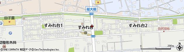 静岡県焼津市すみれ台周辺の地図