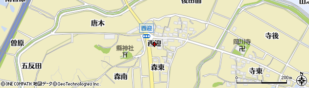 愛知県武豊町(知多郡)冨貴(西迎)周辺の地図