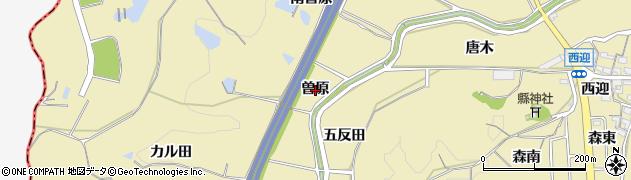 愛知県武豊町(知多郡)冨貴(曽原)周辺の地図