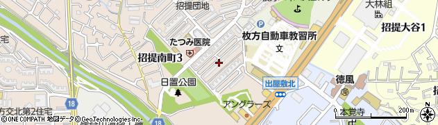 府営枚方招提団地周辺の地図