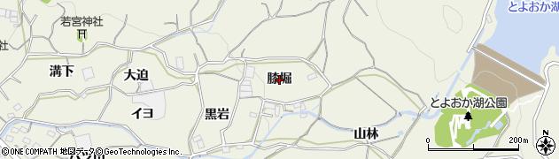 愛知県蒲郡市豊岡町(膝堀)周辺の地図