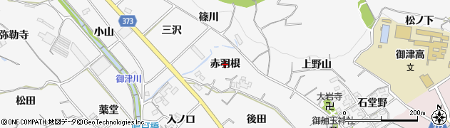 愛知県豊川市御津町豊沢(赤羽根)周辺の地図