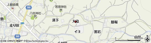 愛知県蒲郡市豊岡町(大迫)周辺の地図