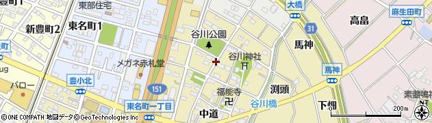 愛知県豊川市谷川町(天王)周辺の地図