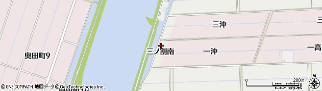 愛知県西尾市中根町(三ノ割南)周辺の地図
