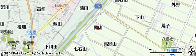 愛知県西尾市行用町(殿山)周辺の地図