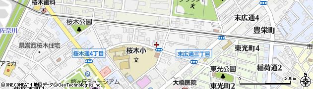 愛知県豊川市小桜町周辺の地図