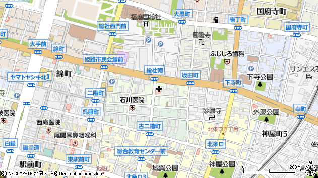 〒670-0937 兵庫県姫路市元塩町の地図