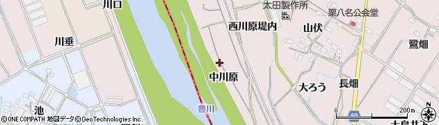 愛知県豊橋市賀茂町(中川原)周辺の地図