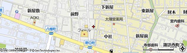 愛知県豊川市野口町(前野)周辺の地図