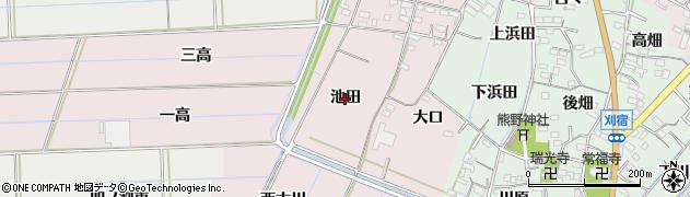 愛知県西尾市巨海町(池田)周辺の地図