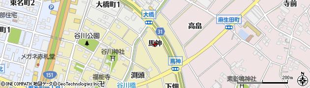 愛知県豊川市谷川町(馬神)周辺の地図
