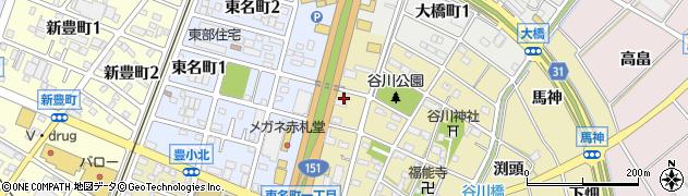べこや周辺の地図