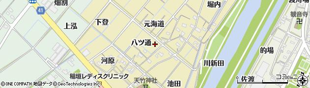 愛知県西尾市天竹町周辺の地図