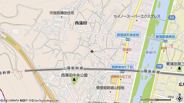 〒671-1107 兵庫県姫路市広畑区西蒲田の地図