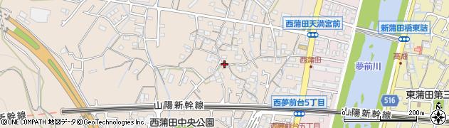 兵庫県姫路市広畑区(西蒲田)周辺の地図