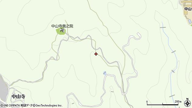 〒665-0861 兵庫県宝塚市中山寺の地図