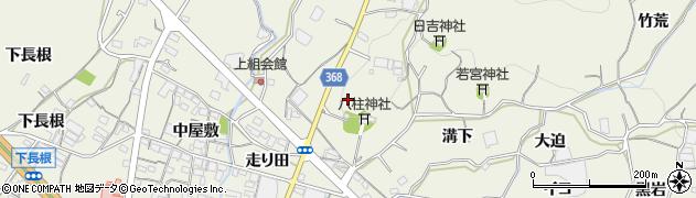 愛知県蒲郡市豊岡町(軒山)周辺の地図