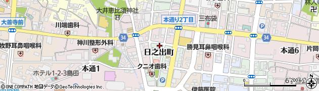 仕事人周辺の地図