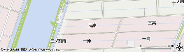 愛知県西尾市巨海町(三沖)周辺の地図