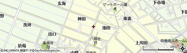 愛知県西尾市下道目記町周辺の地図