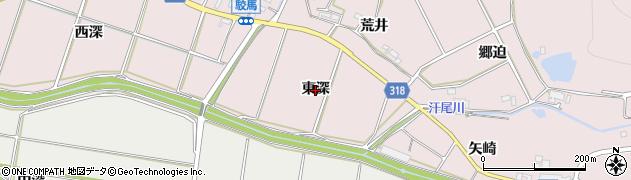 愛知県西尾市吉良町駮馬(東深)周辺の地図