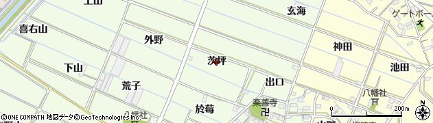 愛知県西尾市行用町(茨坪)周辺の地図